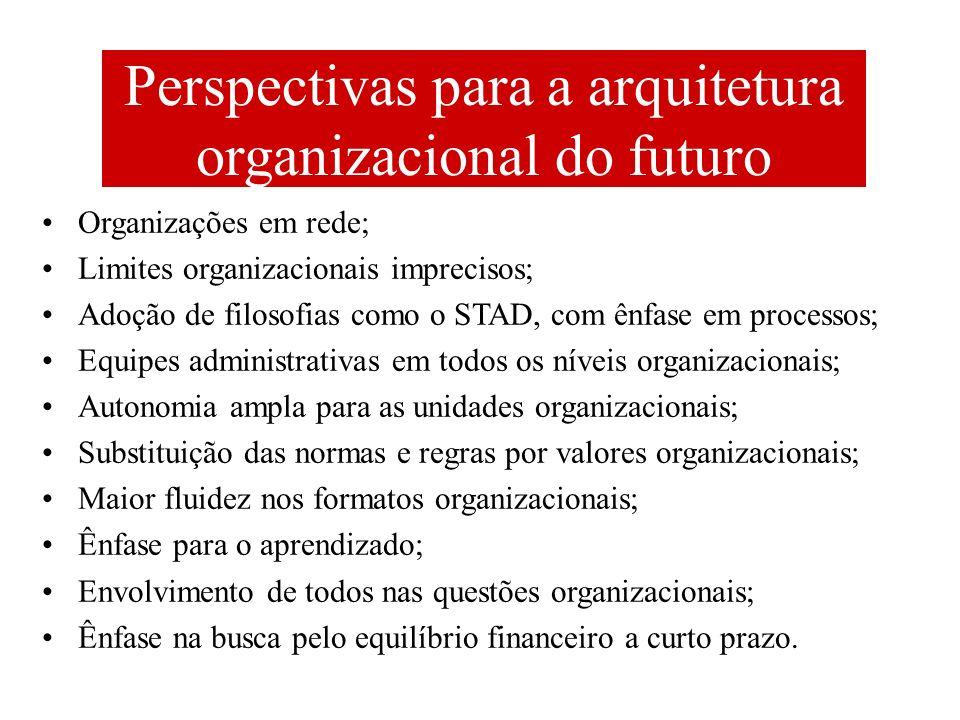 Perspectivas para a arquitetura organizacional do futuro