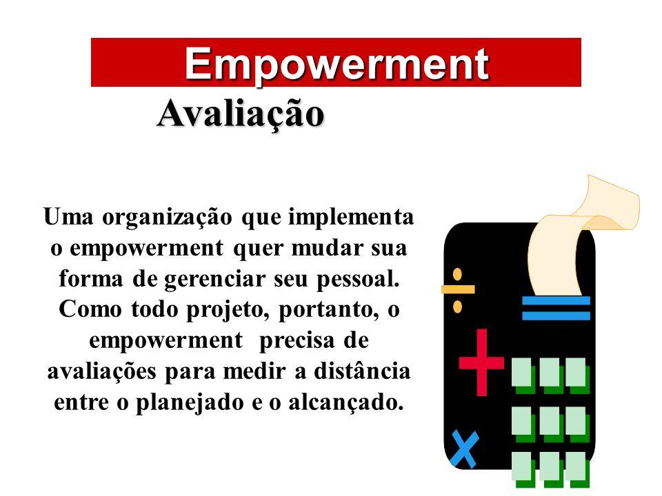Empowerment ÁREAS DE ATUAÇÃO Avaliação