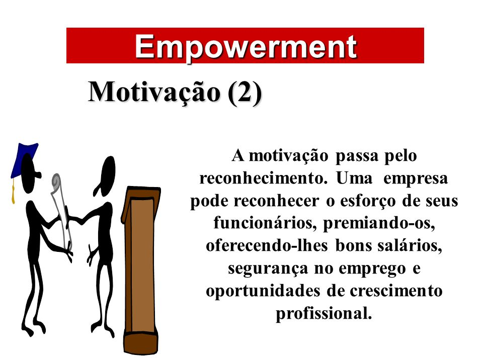 Empowerment ÁREAS DE ATUAÇÃO Motivação (2)