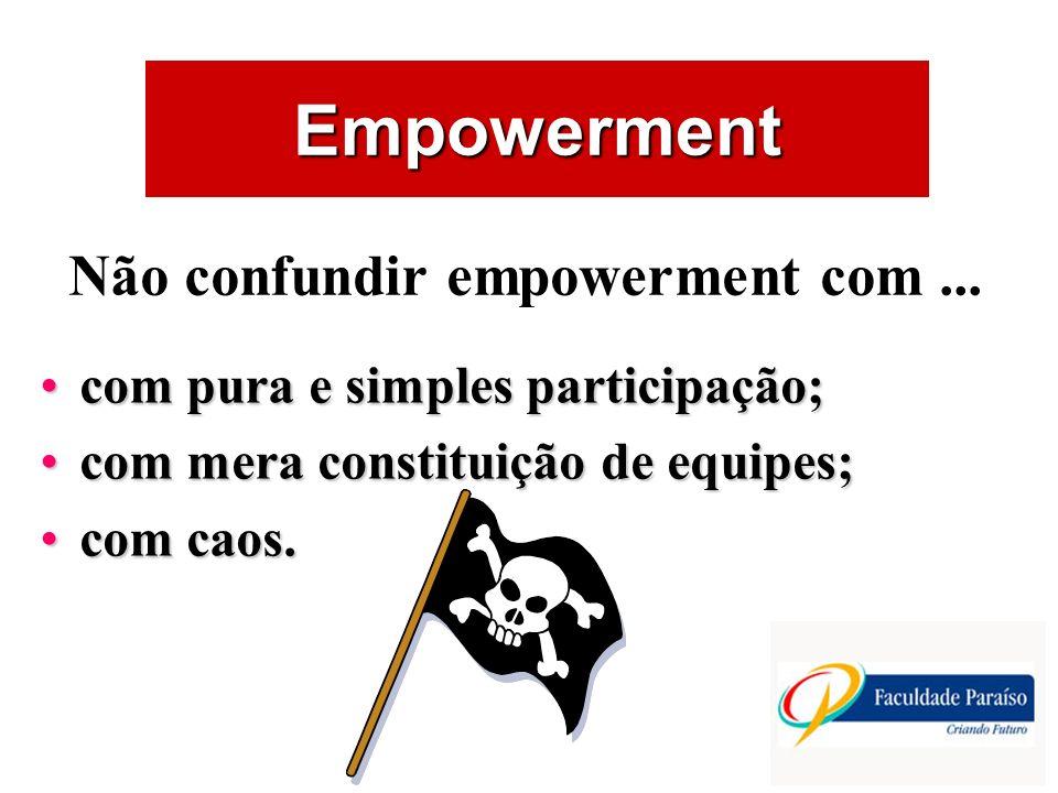 Não confundir empowerment com ...
