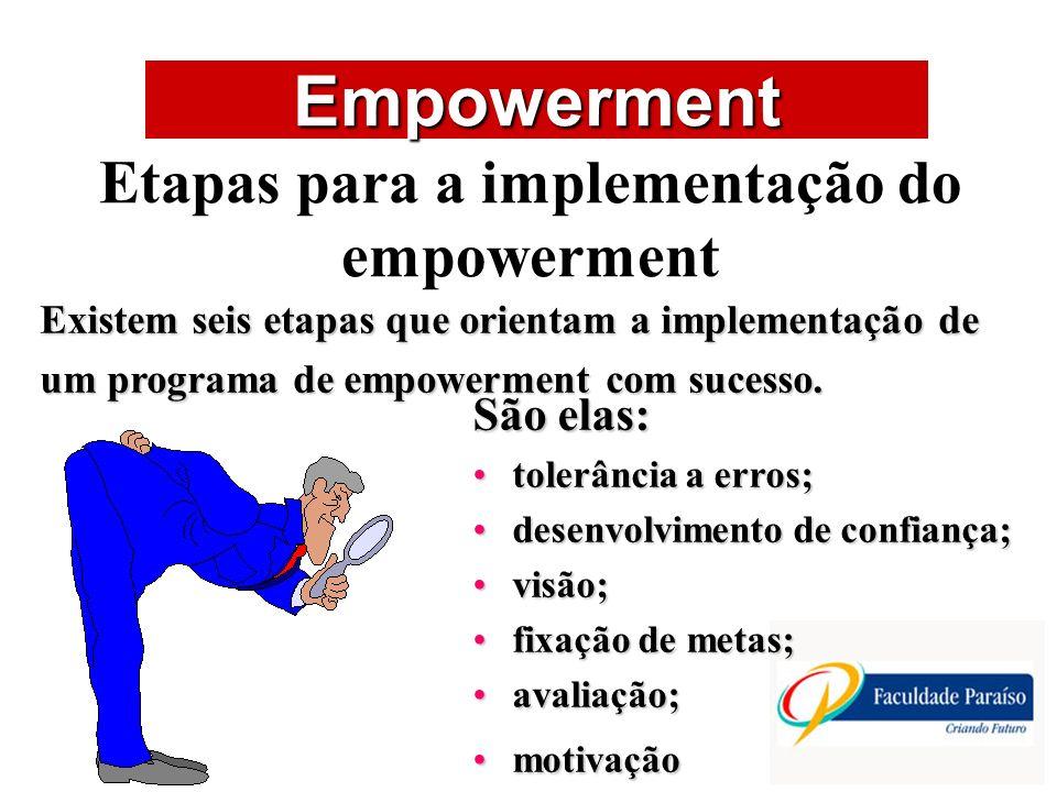 Etapas para a implementação do empowerment