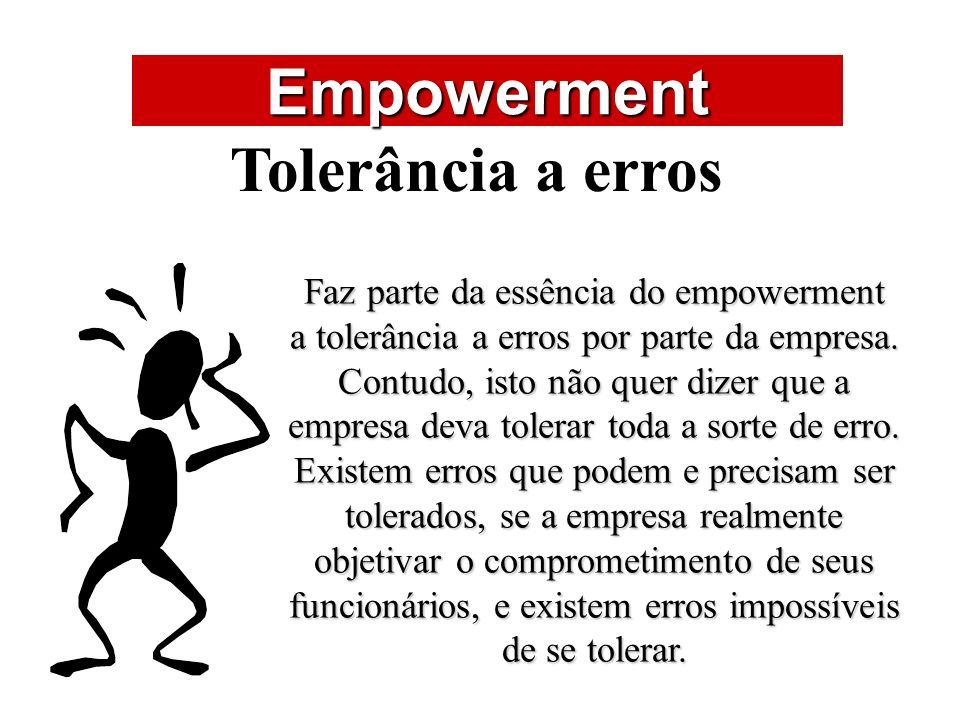 Empowerment Tolerância a erros ÁREAS DE ATUAÇÃO