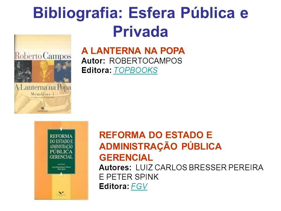 Bibliografia: Esfera Pública e Privada
