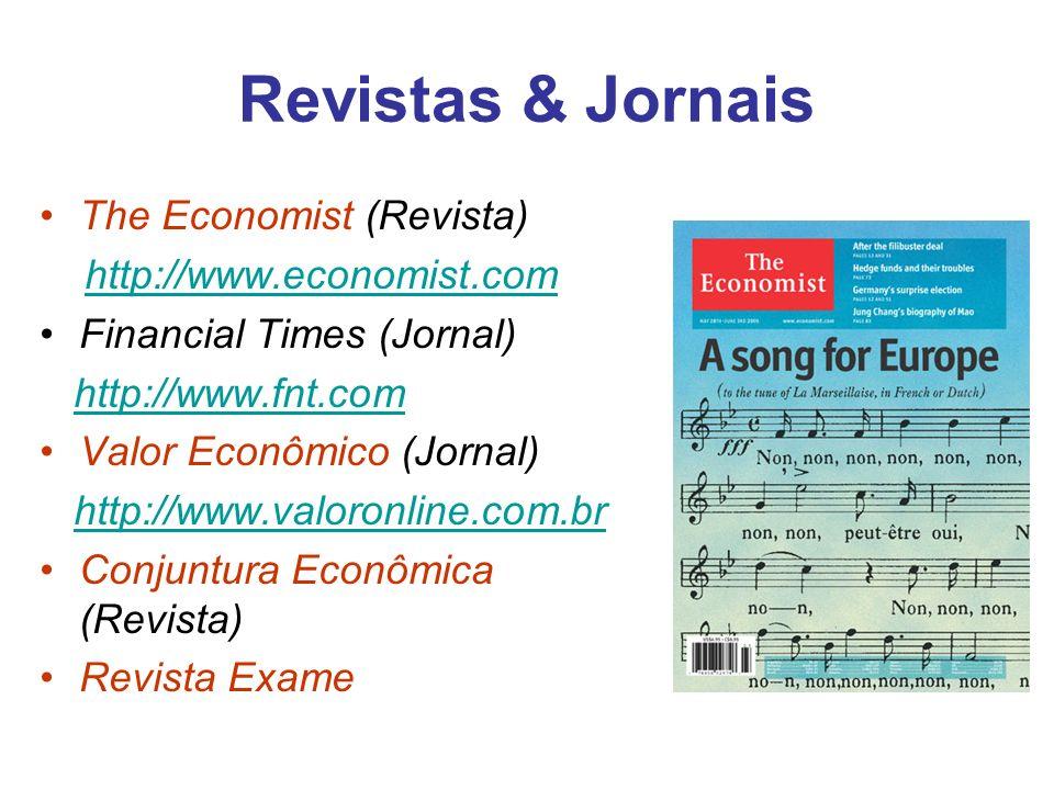 Revistas & Jornais The Economist (Revista) http://www.economist.com