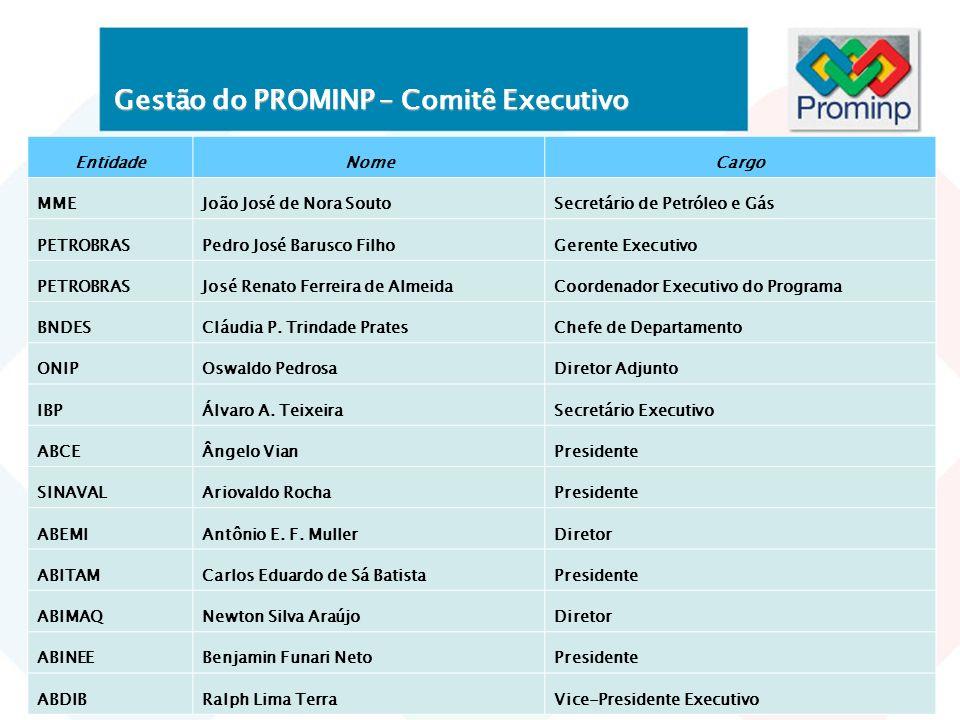 Gestão do PROMINP – Comitê Executivo