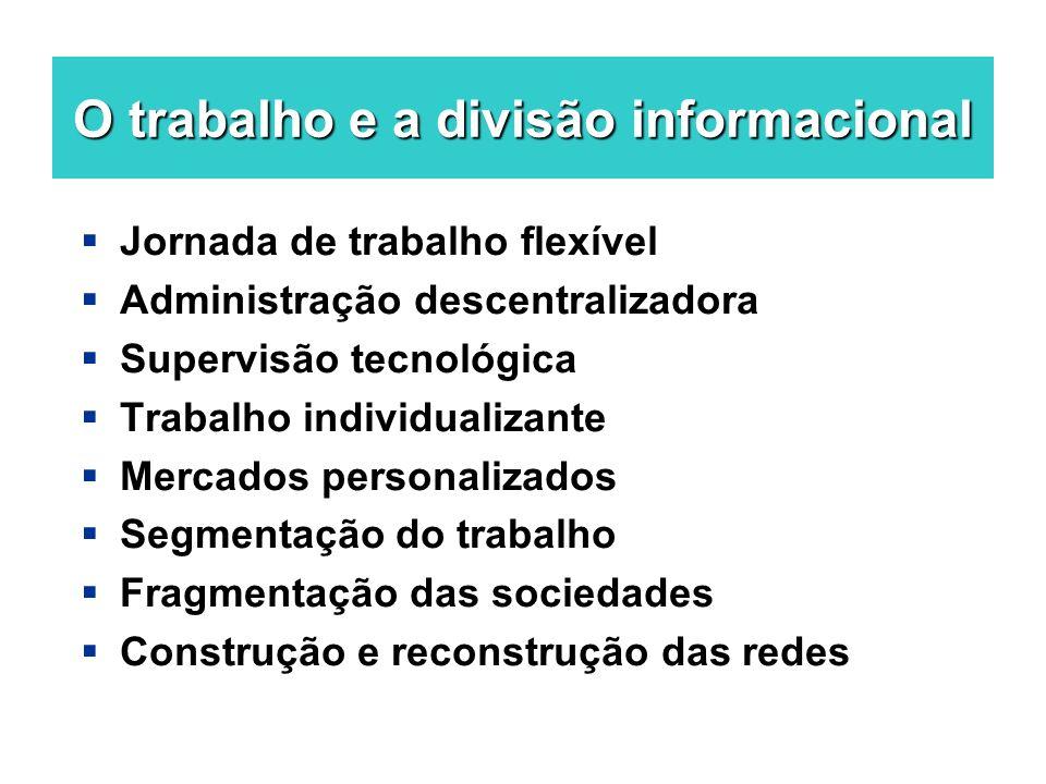 O trabalho e a divisão informacional