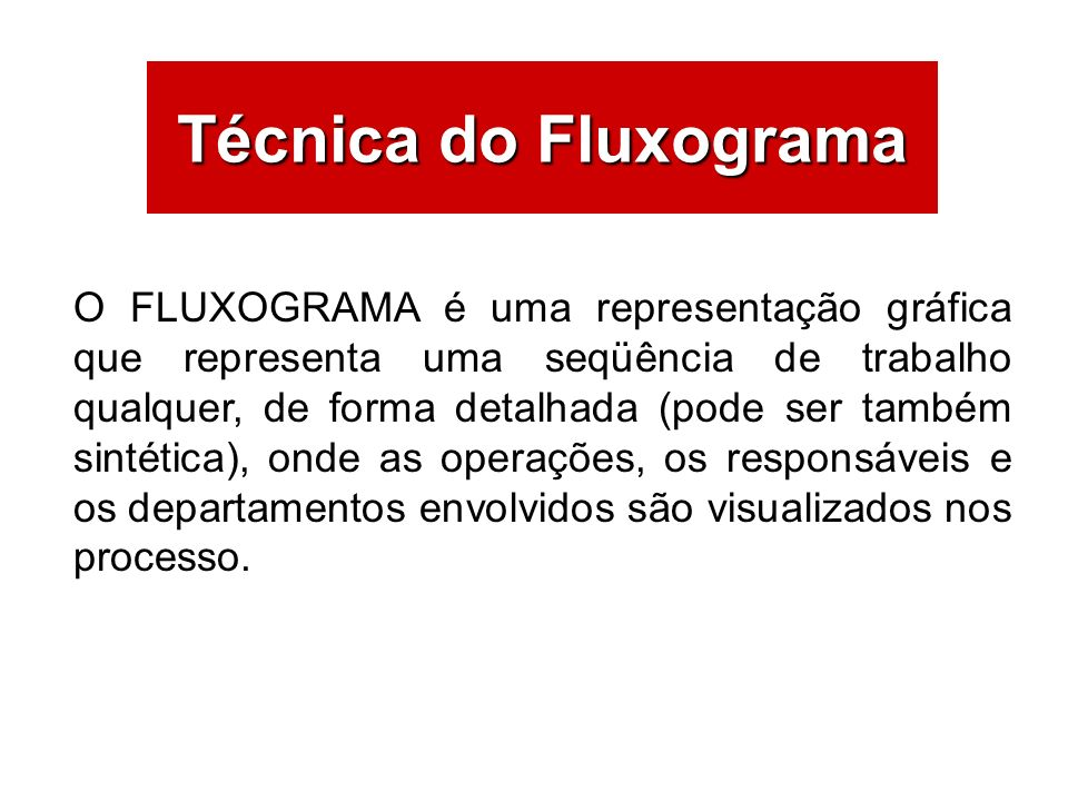 Técnica do Fluxograma