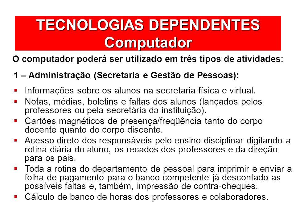 TECNOLOGIAS DEPENDENTES Computador