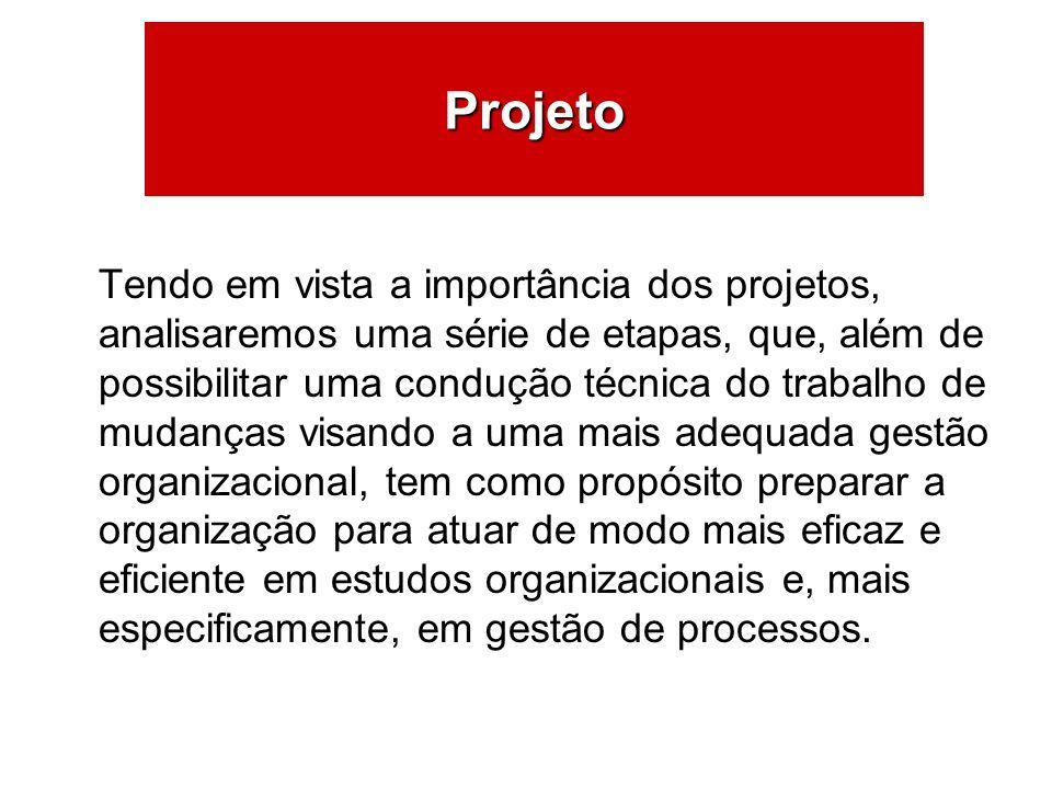 ÁREAS DE ATUAÇÃO Projeto Tendo em vista a importância dos projetos,