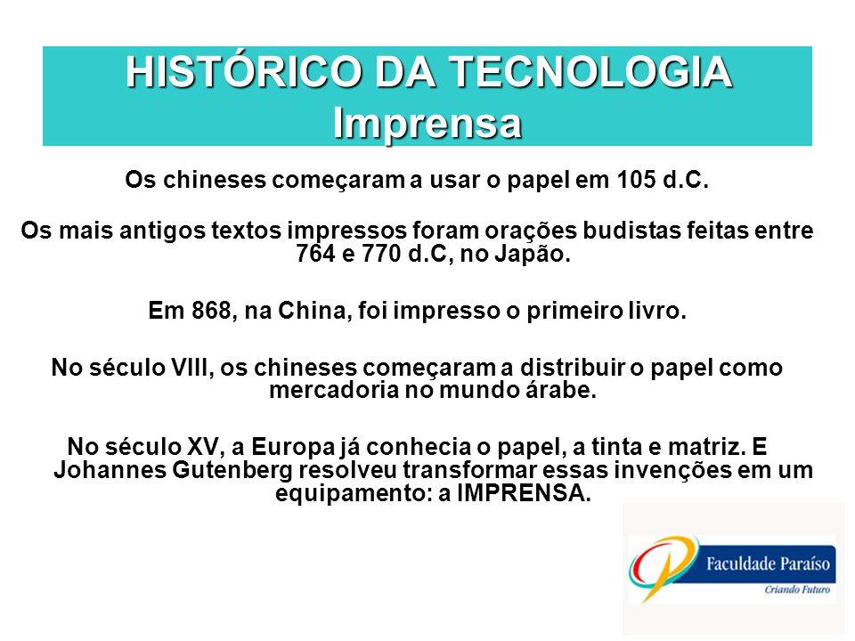 HISTÓRICO DA TECNOLOGIA Imprensa
