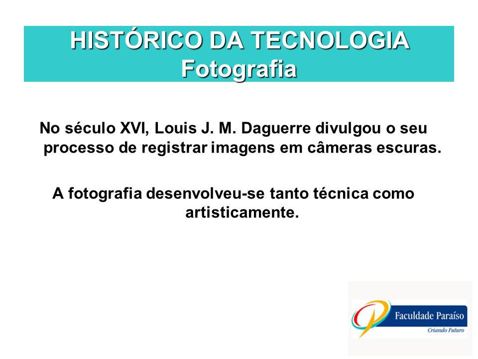 HISTÓRICO DA TECNOLOGIA Fotografia