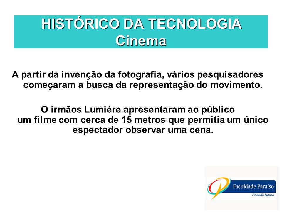 HISTÓRICO DA TECNOLOGIA Cinema