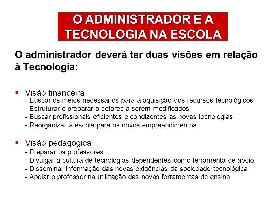 O ADMINISTRADOR E A TECNOLOGIA NA ESCOLA