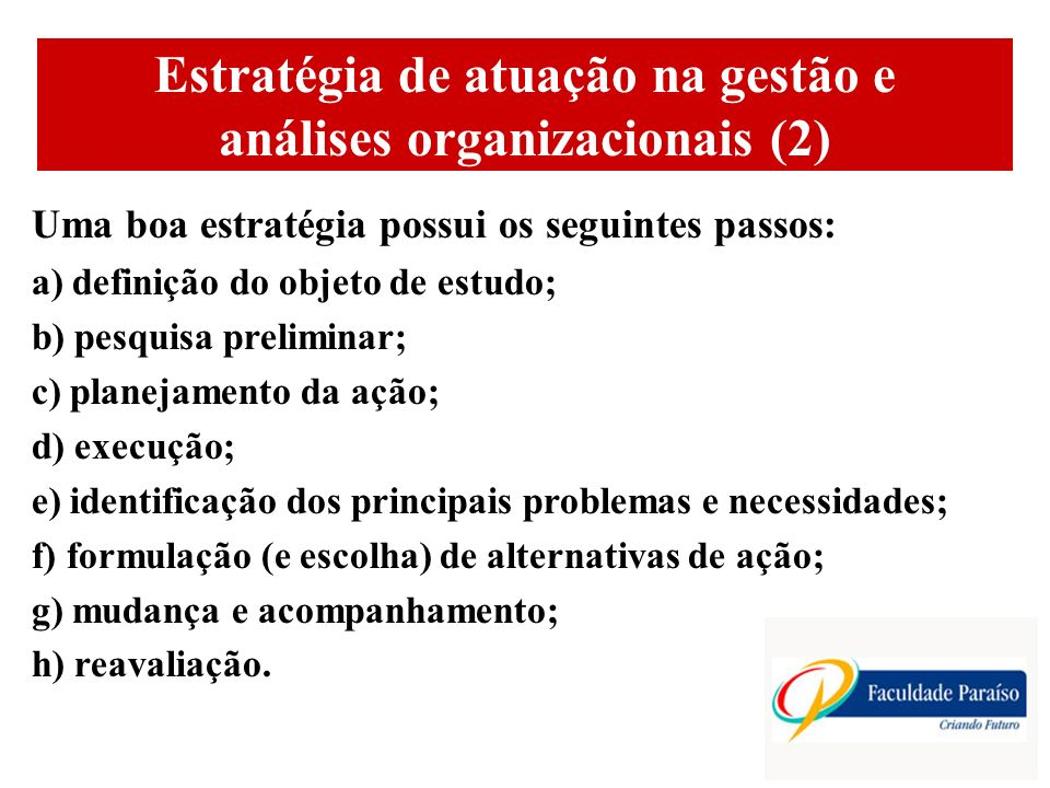 Estratégia de atuação na gestão e análises organizacionais (2)