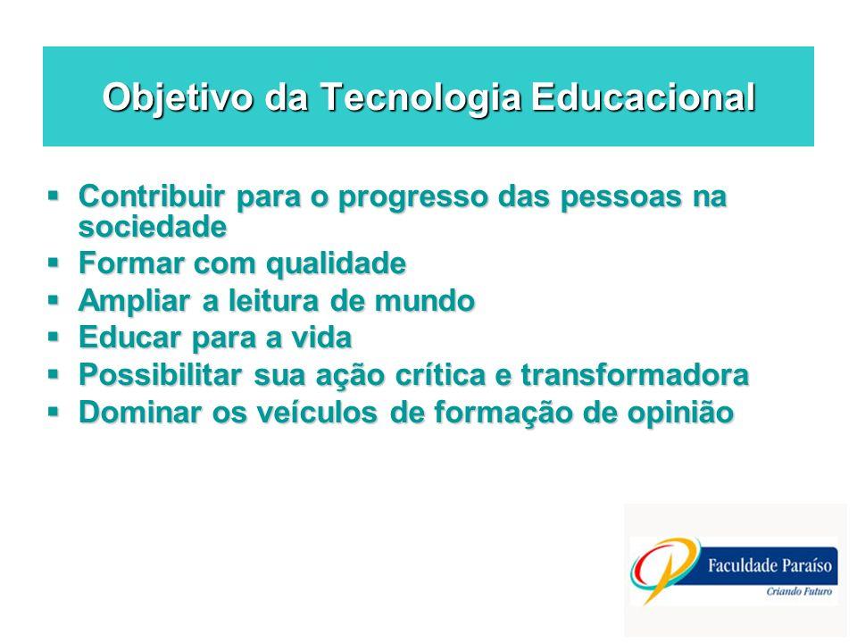 Objetivo da Tecnologia Educacional