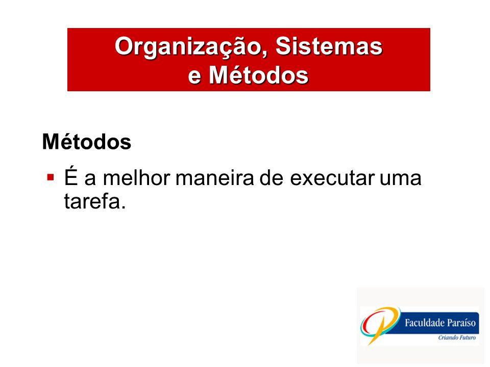 Organização, Sistemas e Métodos