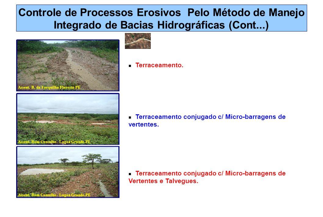 Controle de Processos Erosivos Pelo Método de Manejo Integrado de Bacias Hidrográficas (Cont...)