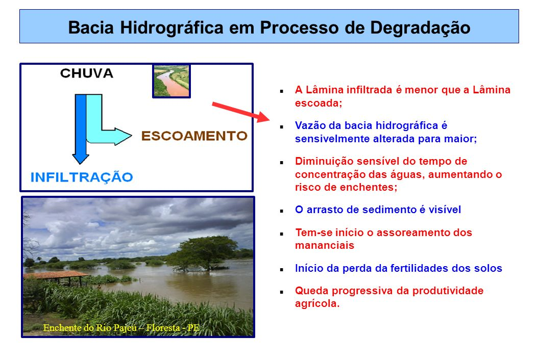 Bacia Hidrográfica em Processo de Degradação