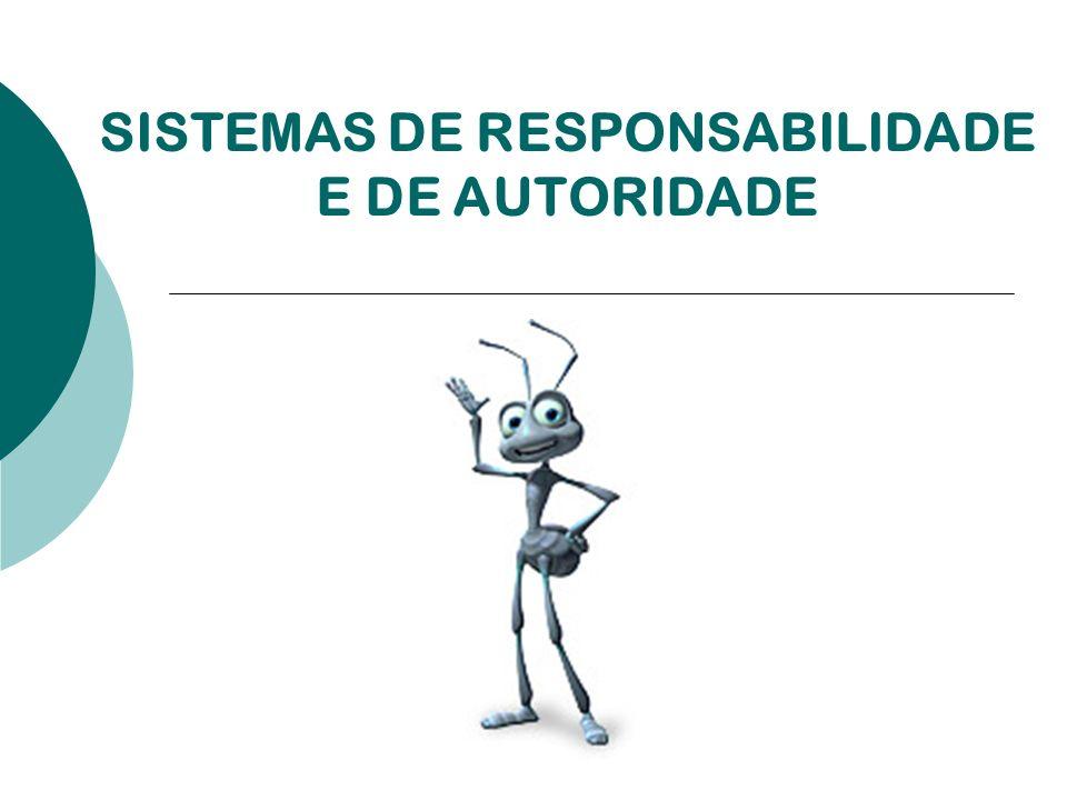 SISTEMAS DE RESPONSABILIDADE E DE AUTORIDADE