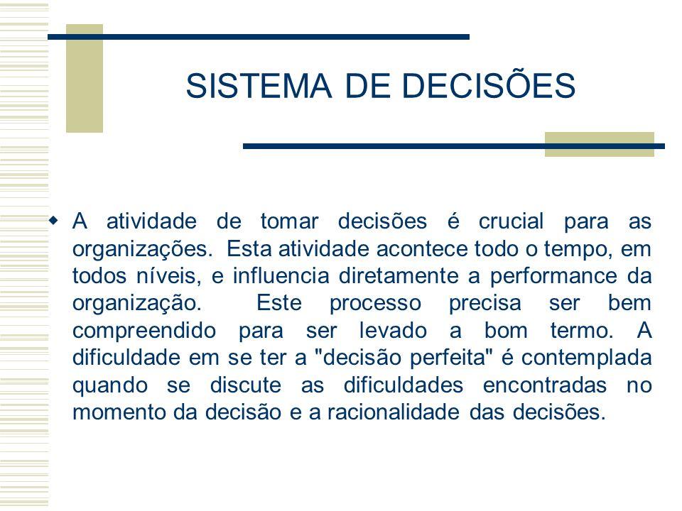 SISTEMA DE DECISÕES