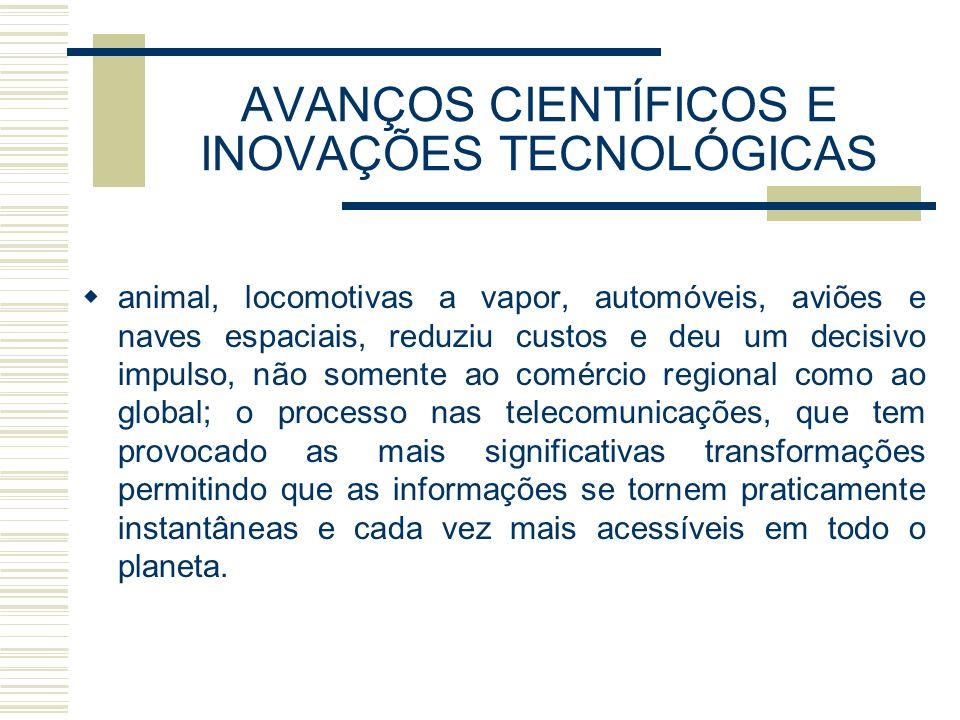 AVANÇOS CIENTÍFICOS E INOVAÇÕES TECNOLÓGICAS