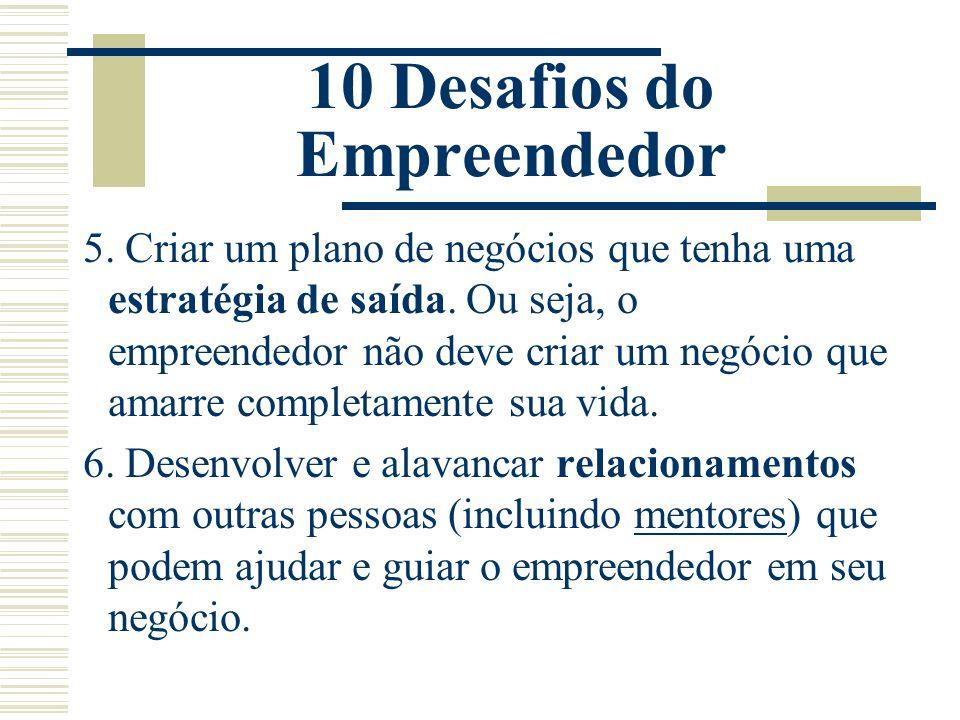 10 Desafios do Empreendedor