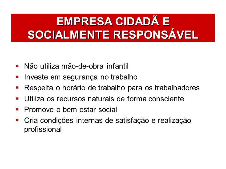 EMPRESA CIDADÃ E SOCIALMENTE RESPONSÁVEL