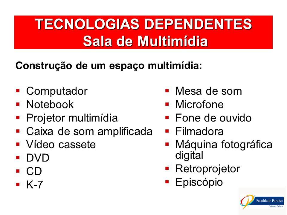 TECNOLOGIAS DEPENDENTES Sala de Multimídia
