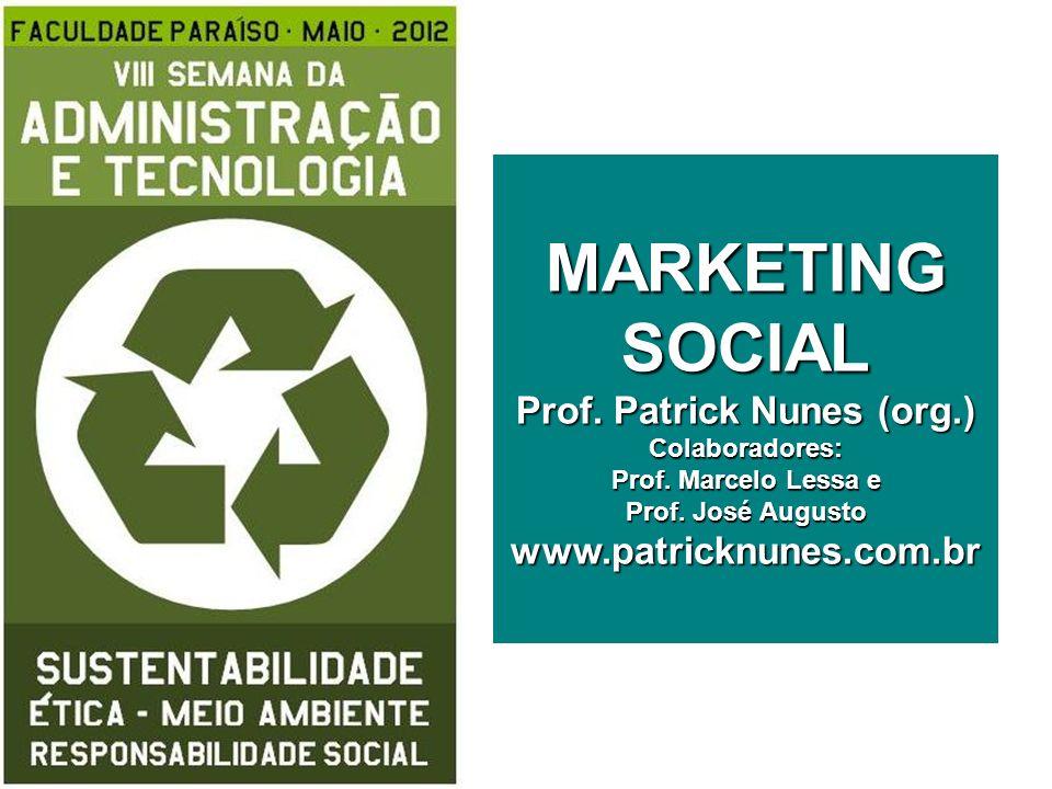 MARKETING SOCIAL Prof. Patrick Nunes (org. ) Colaboradores: Prof