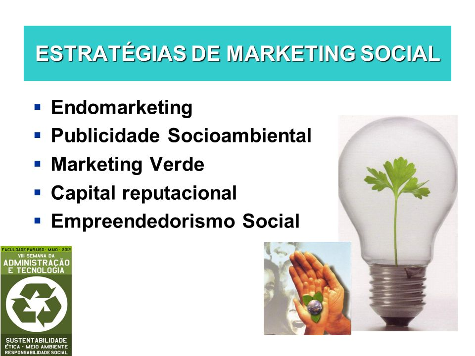 ESTRATÉGIAS DE MARKETING SOCIAL