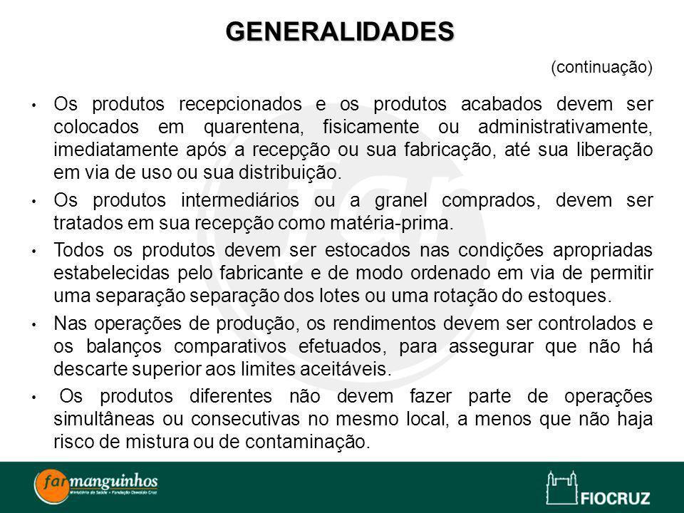 GENERALIDADES (continuação)