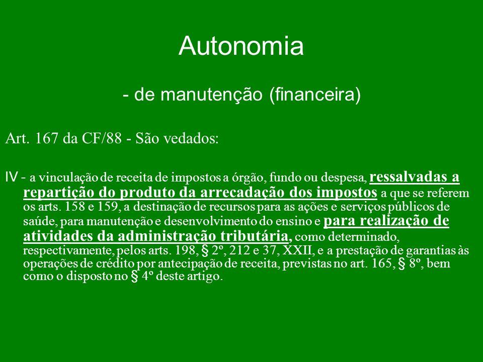 - de manutenção (financeira)
