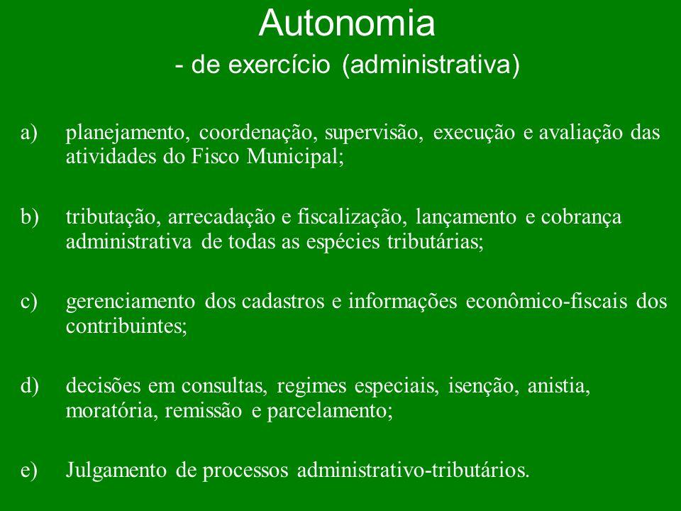 - de exercício (administrativa)