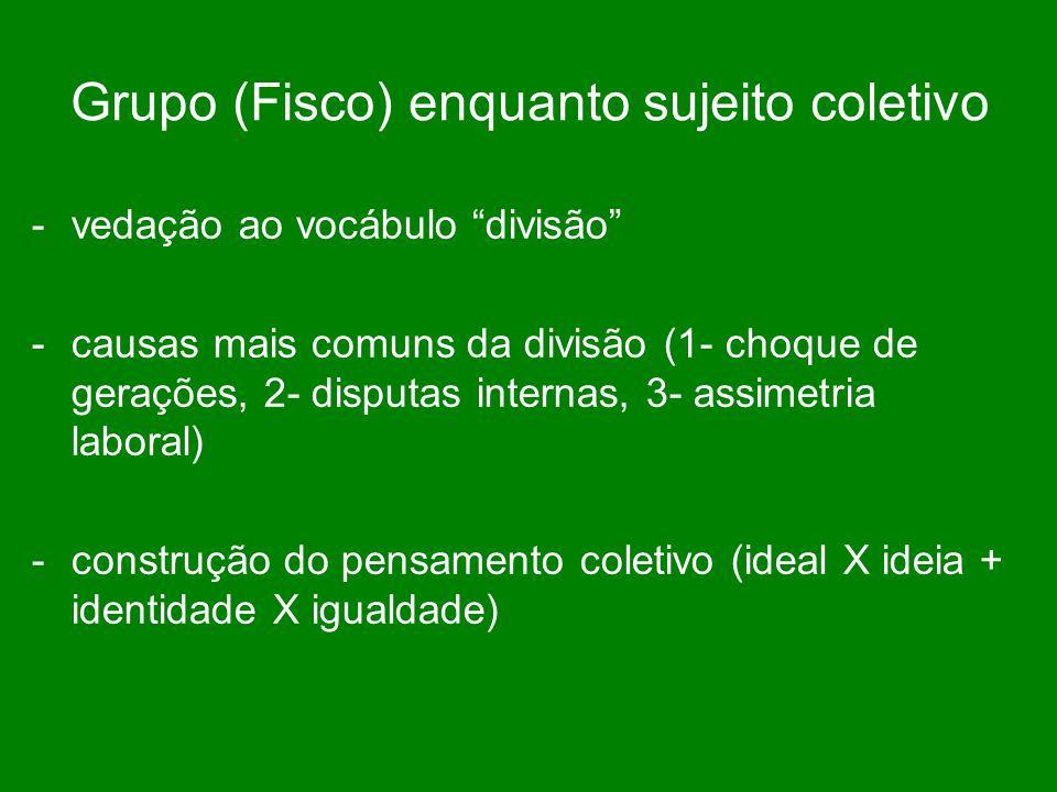 Grupo (Fisco) enquanto sujeito coletivo