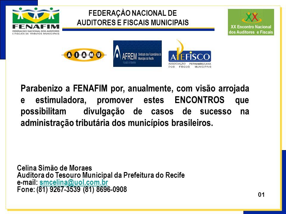 FEDERAÇÀO NACIONAL DE AUDITORES E FISCAIS MUNICIPAIS