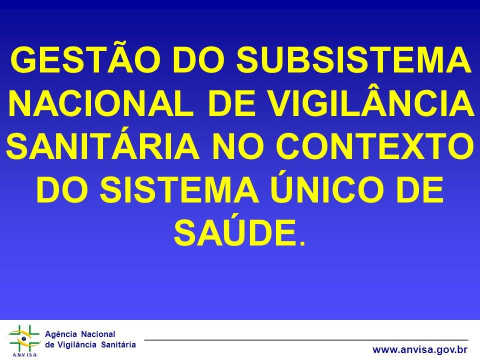 GESTÃO DO SUBSISTEMA NACIONAL DE VIGILÂNCIA SANITÁRIA NO CONTEXTO DO SISTEMA ÚNICO DE SAÚDE.