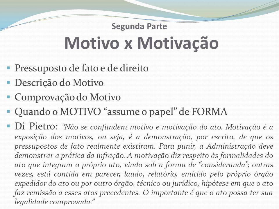 Segunda Parte Motivo x Motivação