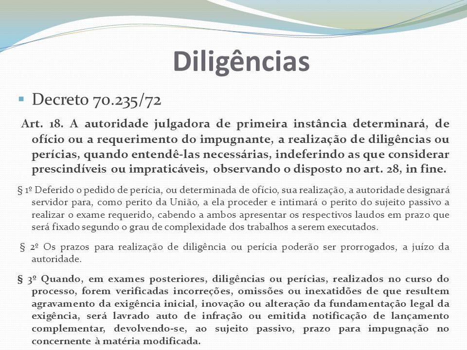 Diligências Decreto 70.235/72.