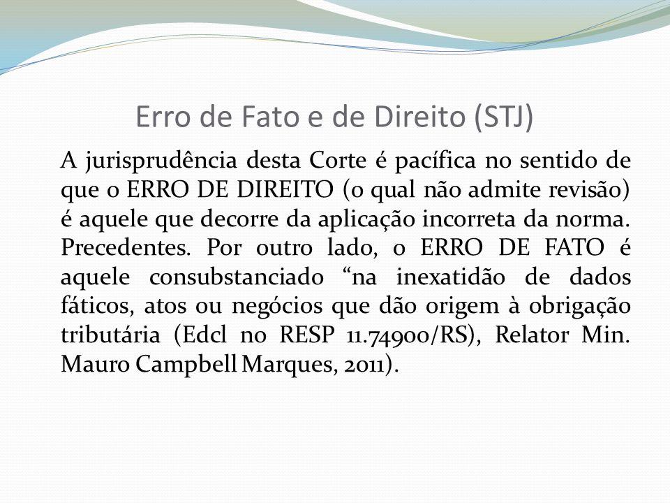 Erro de Fato e de Direito (STJ)