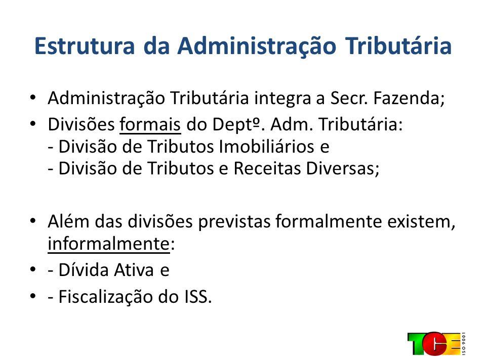 Estrutura da Administração Tributária