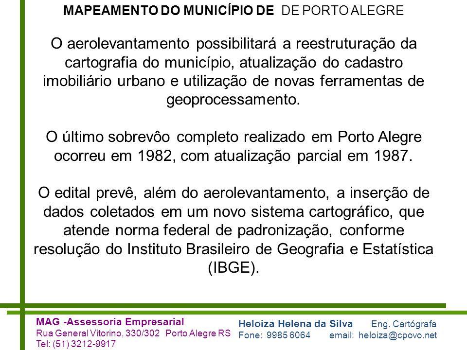 MAPEAMENTO DO MUNICÍPIO DE DE PORTO ALEGRE