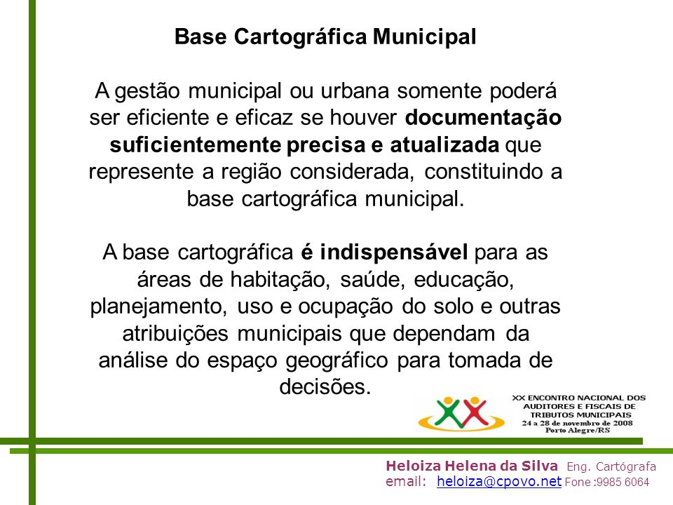 Base Cartográfica Municipal
