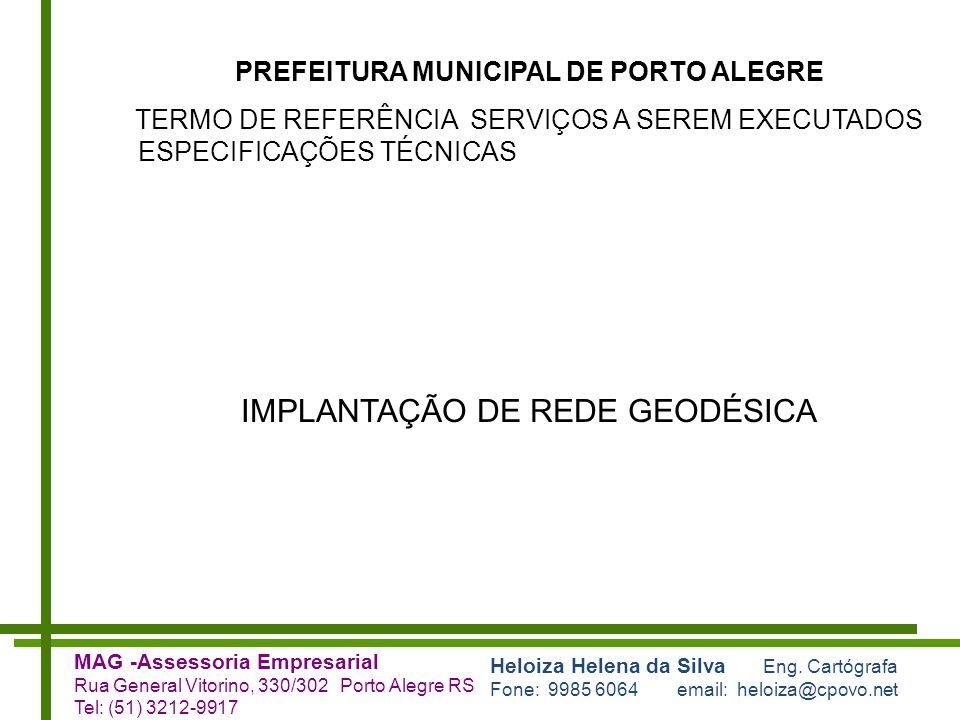 IMPLANTAÇÃO DE REDE GEODÉSICA