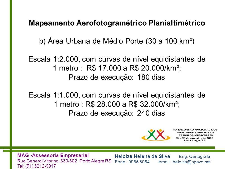Mapeamento Aerofotogramétrico Planialtimétrico