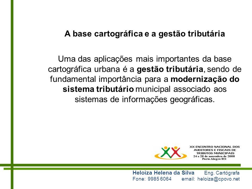 A base cartográfica e a gestão tributária