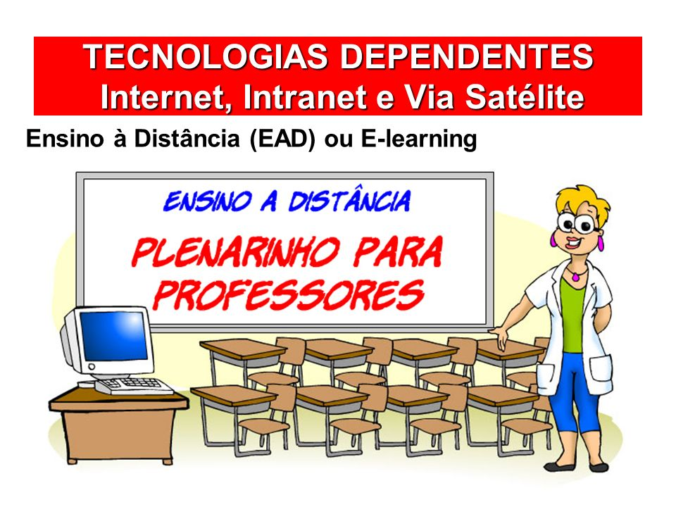 TECNOLOGIAS DEPENDENTES Internet, Intranet e Via Satélite