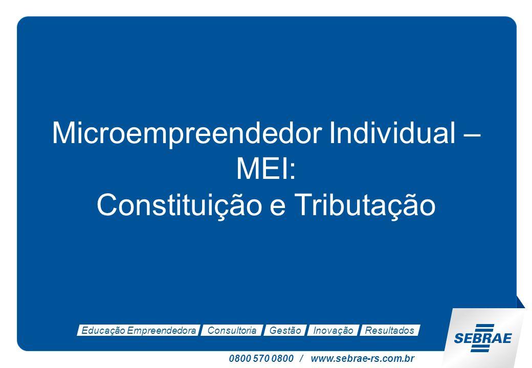 Microempreendedor Individual – MEI: Constituição e Tributação