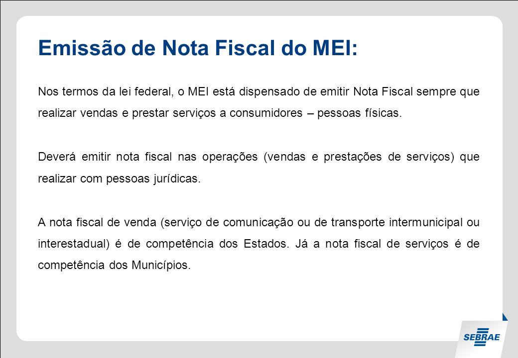 Emissão de Nota Fiscal do MEI: