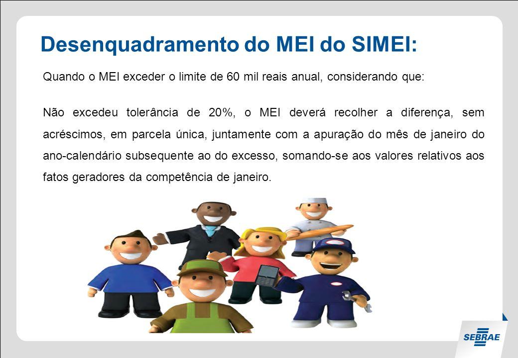 Desenquadramento do MEI do SIMEI: