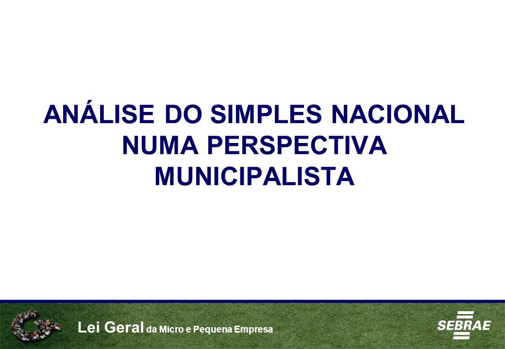 ANÁLISE DO SIMPLES NACIONAL NUMA PERSPECTIVA MUNICIPALISTA